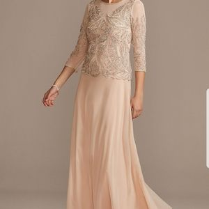 Pisarro Nights Sequined and Beaded Long Dress 10